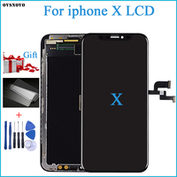100% Test OEM AMOLED LCD Replacement For iPhone X LCD Display 3D Digitizer Touch Screen Assembly Black Color