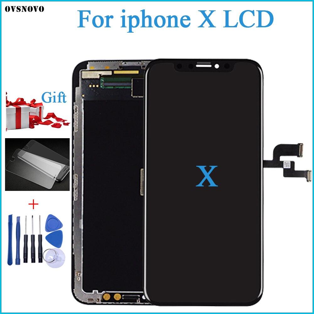 100% Test OEM AMOLED LCD remplacement pour iPhone X LCD affichage 3D numériseur écran tactile assemblée couleur noire