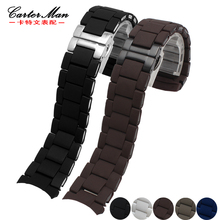 bdf99c4d0b1c High quality Rubber + stainless steel watchband for AR5906 AR5890 20mm 23mm  watch strap bracelet(