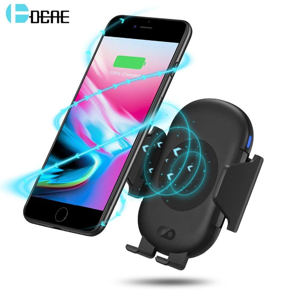 DCAE Infrarot Sensor Auto Halter Automatische Drahtlose Ladegerät Für iphone XS X 8 Plus Samsung S8 S9 Air Vent Halterung QI Schnelle Lade