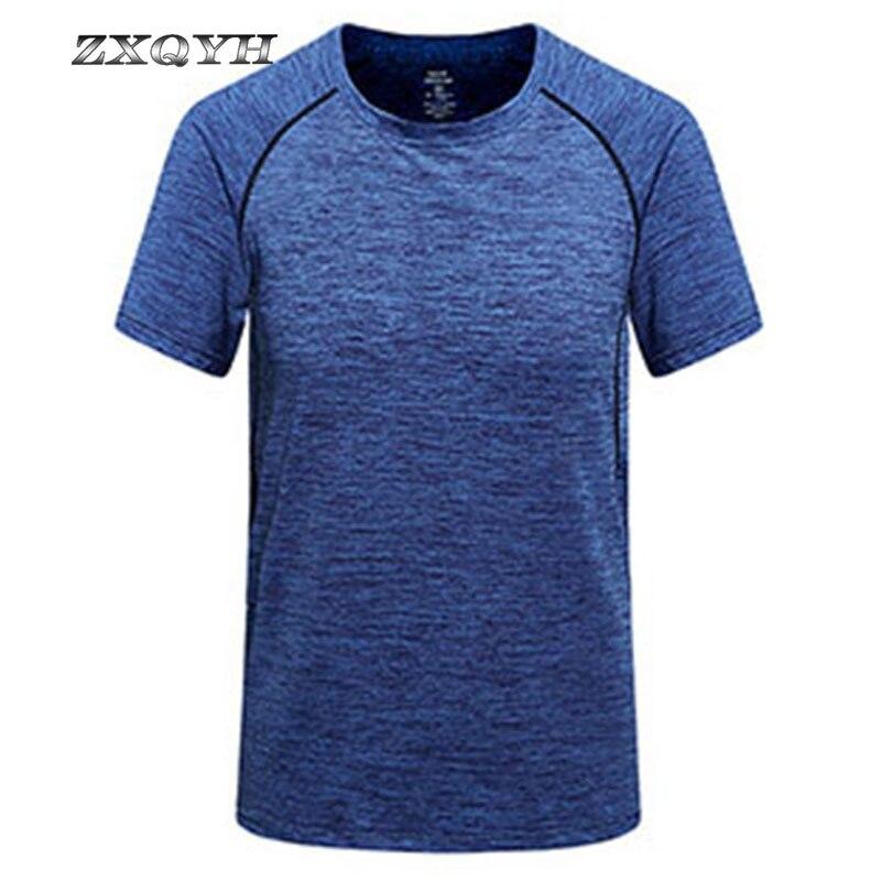 ZXQYH Quick Dry T-shirt Kurzarm Sommer Sport T-shirts Neue männer Fitness Laufende T-shirts Outdoor Camping Wandern Shirts