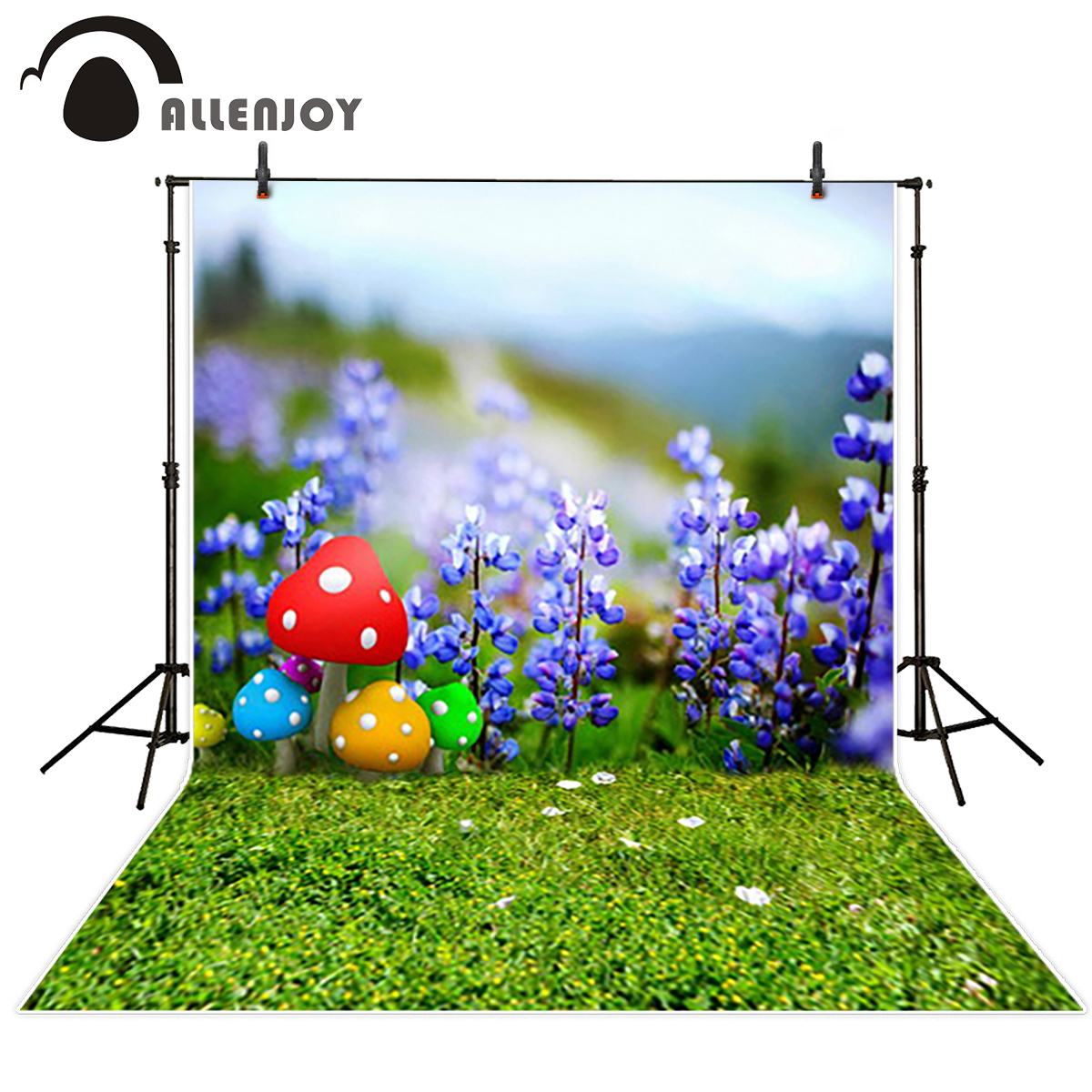 Allenjoy vinyl backdrops for photography backdrop Grassland Purple mushroom Beautiful Background for photo fond studio photo трусы 2 шт quelle infinity kids 1005265