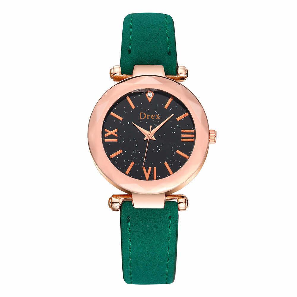 אופנה צבע רצועת דיגיטלי חיוג רצועת עור קוורץ אנלוגי יד שעונים שעון קיר מודרני עיצוב גדול montre femme 50