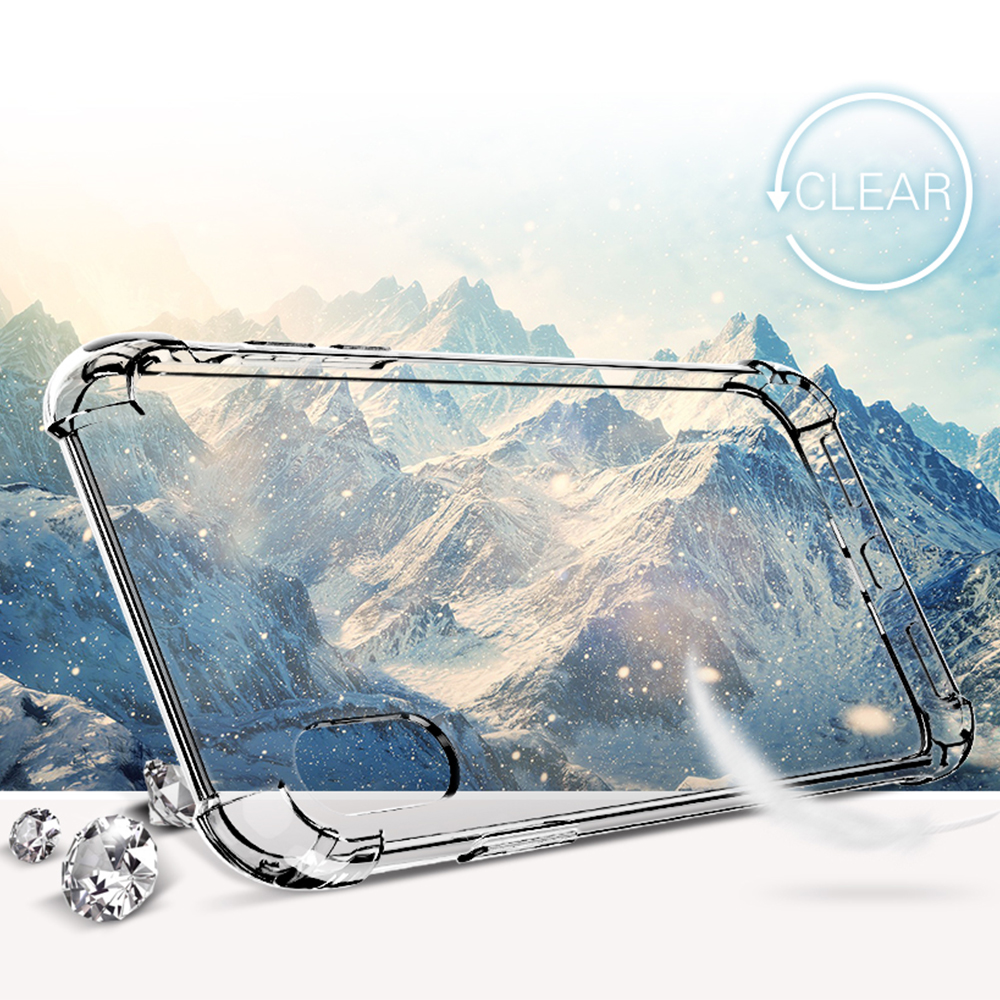 Anti-knock Clear Silicon Shockproof Cover with TPU iPhone Case 4