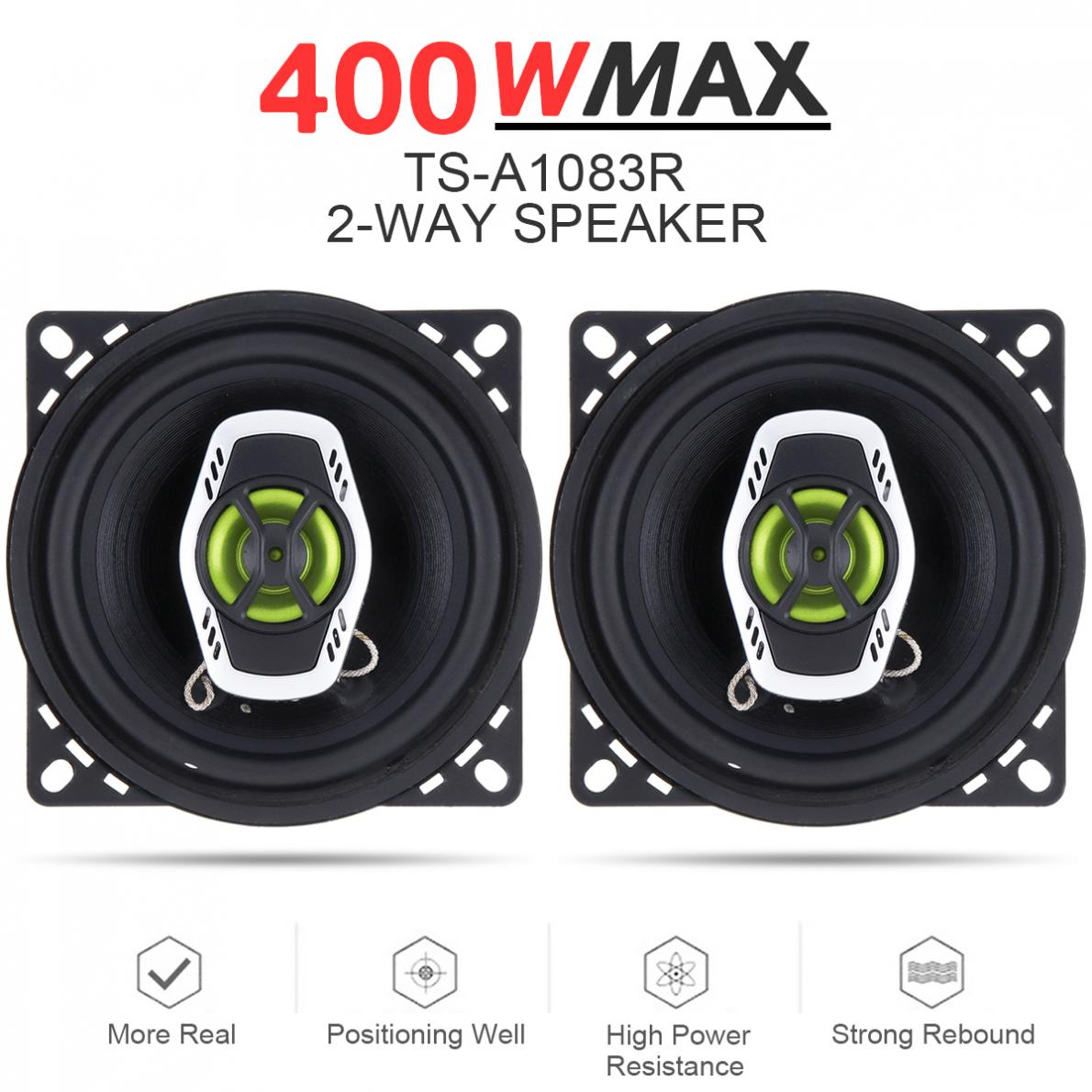 Stereo Hifi Speakers Audio Car-Coaxial 10cm Auto Full-Range 4inch Frequency Music 400W