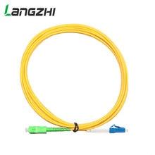 10Pcs/bagSC-LC 3M Simplex Single Mode G652D Fiber Optic Patch Cord SC/APC-LC/UPC 3.0mm PVC Jacket FTTH Jumper