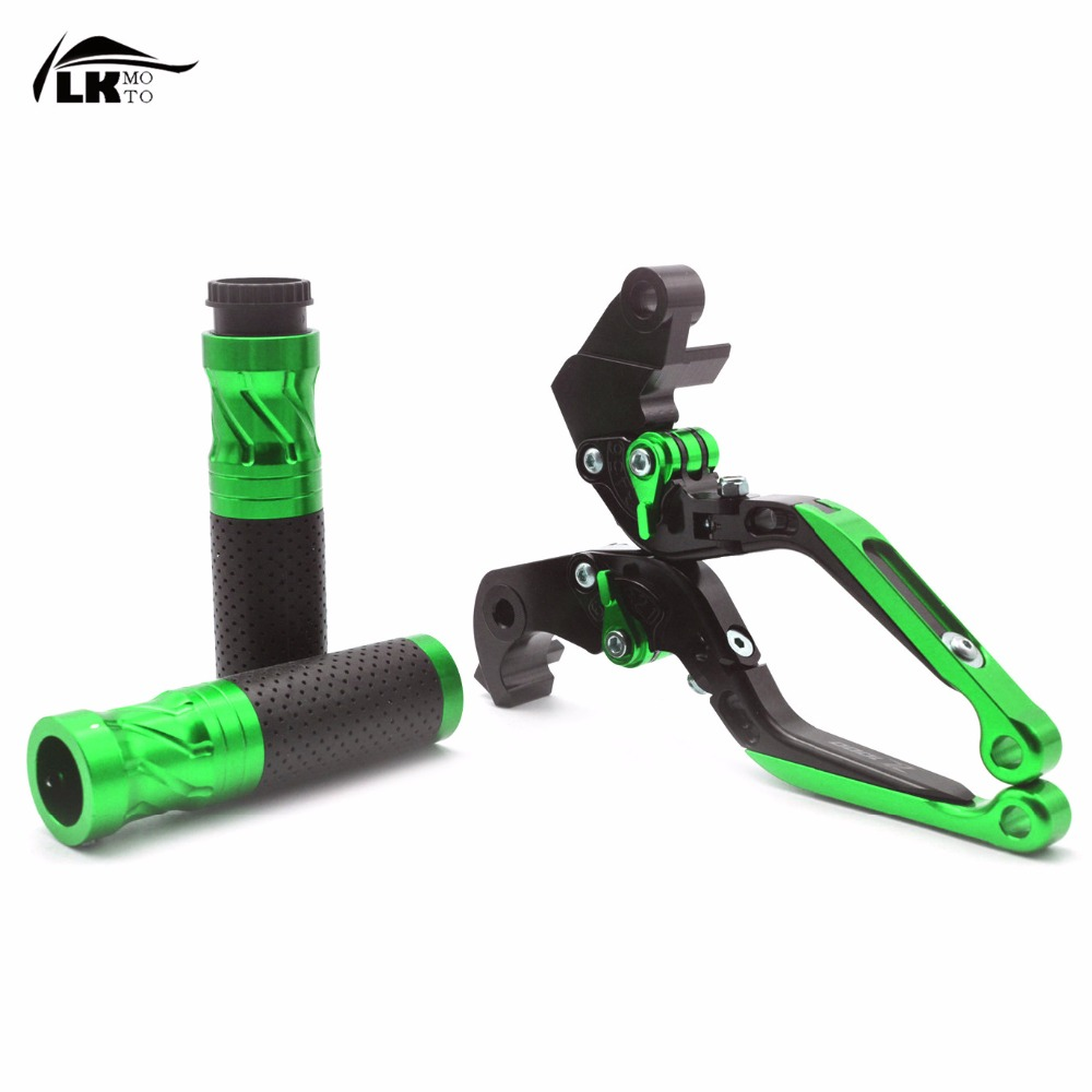 cnc motocycle brake clutch levers  with z1000 logo & handlebar grips bar Motorcycle parts For Kawasaki Z1000 2003-2006 motorcycle adjustable brake clutch levers 7 8handlebar hand grips handlebar for kawasaki z1000 2003 2004 2005 2006