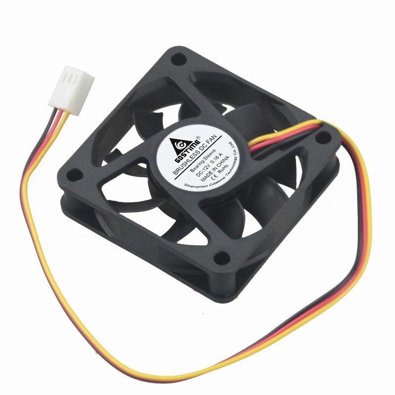10 Pieces Gdstime 3pin 6cm 60x60x15mm 12V 3D Machine Equitment PC Case Brushless DC Cooling Fan 60mm x 15mm