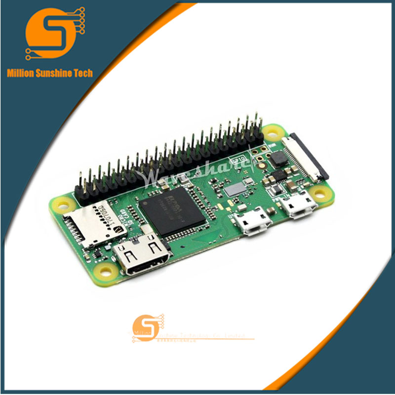 Mini PC AIO All-in-one Raspberry Pi Zero WH RPi Zero WH 1GHz CPU 512MB RAM With Bluetooth 4.1 Wireless LAN 40PIN GPIO Headers