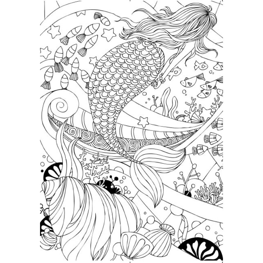 Color Pen Pencil Coloring Book For Kids Adults Kill Time