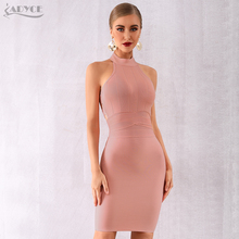 Adyce 2020 New Summer Women Red Bodycon Bandage Dress Vestido Elegant Sexy Hollow Out Backless Club Dress Celebrity Party Dress