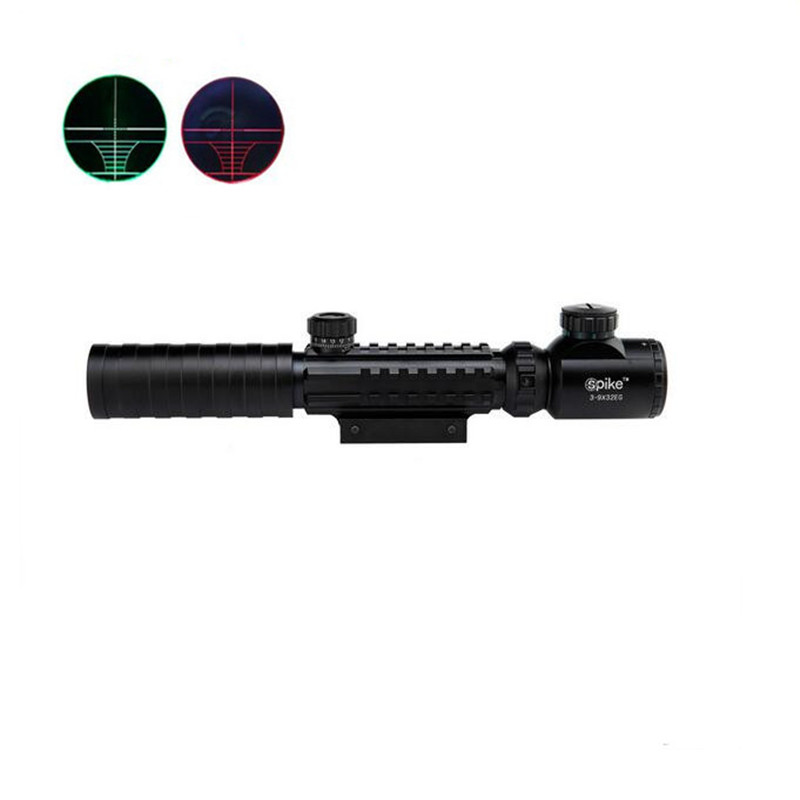 ФОТО Hunting Scope Red Green Dot Illuminated Sights Scope Tactical Optical Rifle Sight Scopes Hunting Airsoft Air guns Riflescope