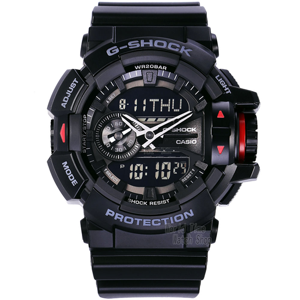 Casio watch Multi-functional double-display fashion sports waterproof men's watches GA-400-1B GA-400-7A смартфон alcatel one touch 4034d pixi 4 red