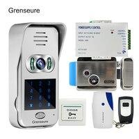 Free Shipping Wireless Wifi Code Keypad Doorbell 720P Video Intercom Remote Phone View Unlock Electric Lock