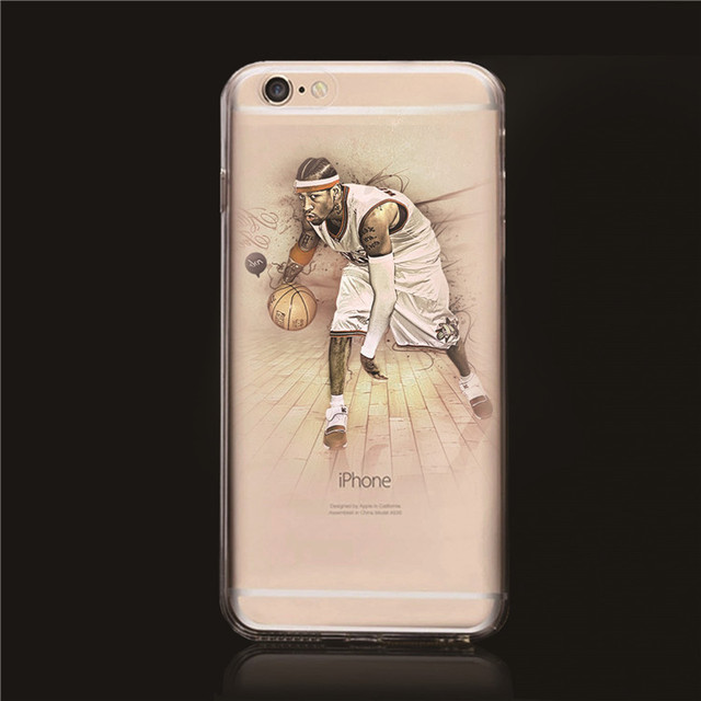 f169df38cea9 Popular NBA Stars case for iphone 6 Transparent Hard Case Derrick Rose  Allen Iverson case cover for iphone 6 4.7
