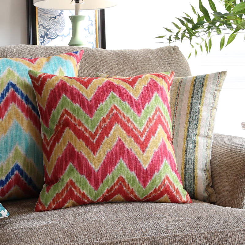2016 Nordic Design Colorful Geometric Striped Pillowcase Luxury Sofa Cusions Decorative Pillow Home Decor Throw Pillow 45*45
