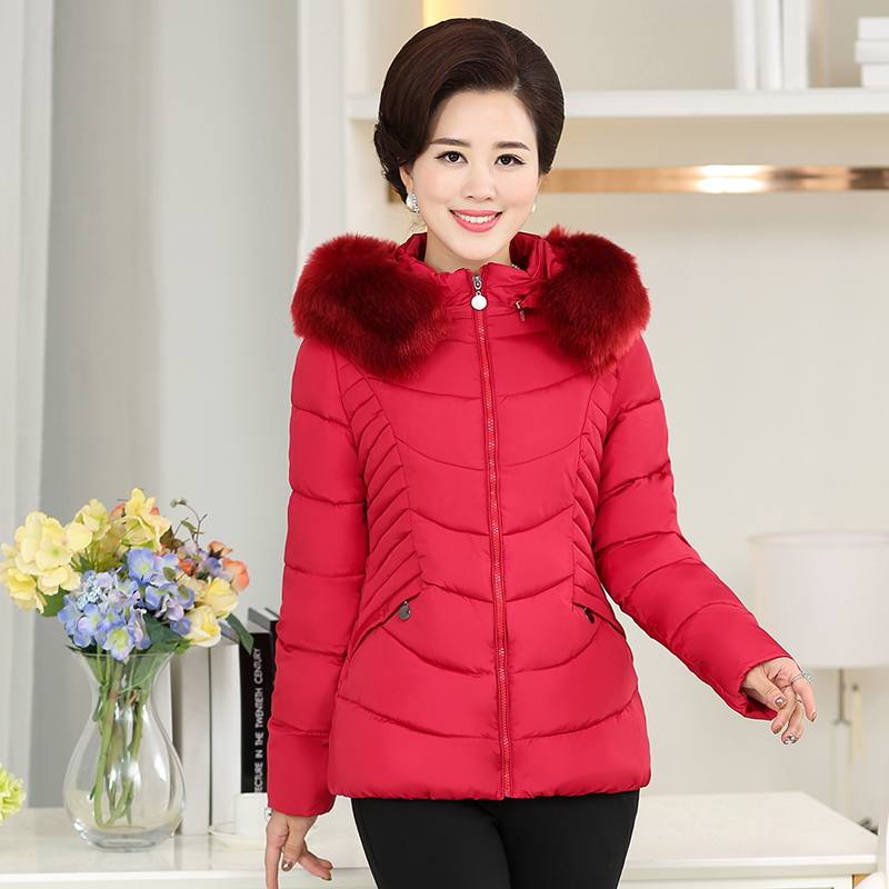 2017 In the elderly women 's winter coat thicker mother loaded down jacket cotton jacket jacket 2017 winter women plus size in the elderly mother loaded cotton coat jacket casual thickening warm cotton jacket coat women 328