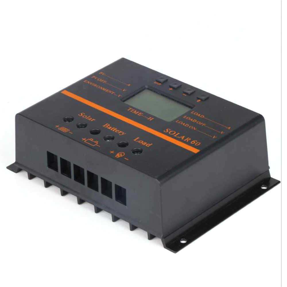 MPPT 50A 60A שמש תשלום בקר LCD תצוגת PV פנל סוללה מטען רגולטור 12V 24V הכפול USB MPPT בקר