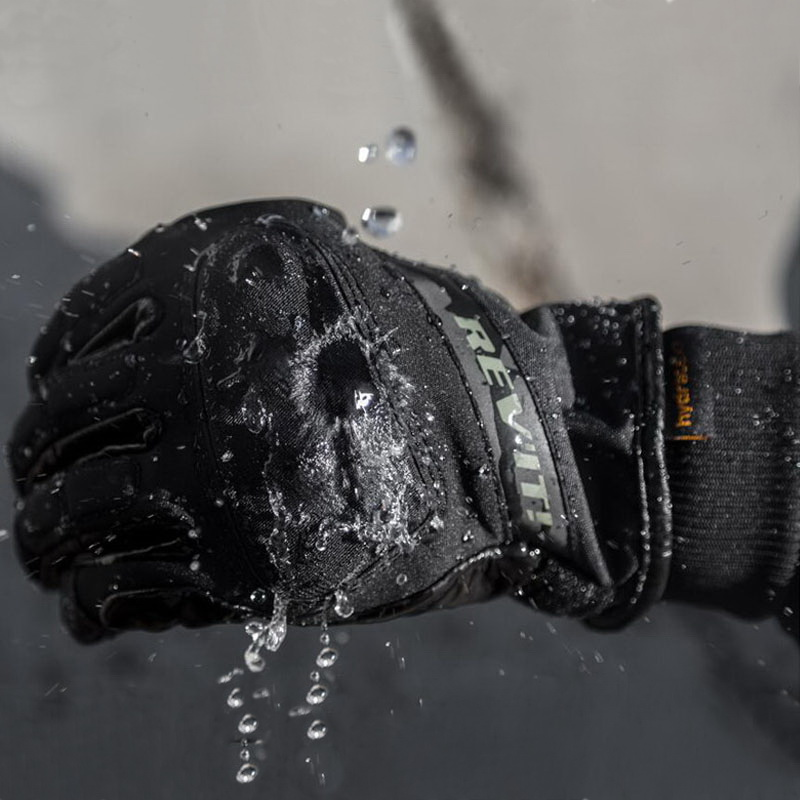 2017 Winter Warm Waterproof short cuffed HYDRA H2O Motorcycle Gloves Leather Motorbike glove windproof rider can touch screen