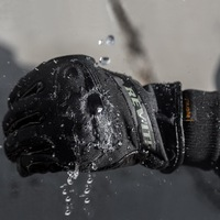 2017 Winter Warm Waterproof Short Cuffed HYDRA H2O Motorcycle Gloves Leather Motorbike Glove Windproof Rider Can
