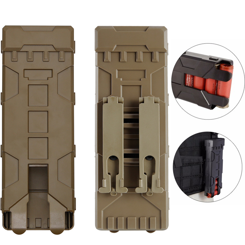 Tactical Shotgun Ammo Bag 10 Rounds Reload Holder Molle Mag Pouch for 12 Gauge Magazine Ammo Cartridge Holder image