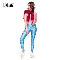 Lixiang Womens Cartoon Cosplay 3D Print Stretch Elastic Pants Legging