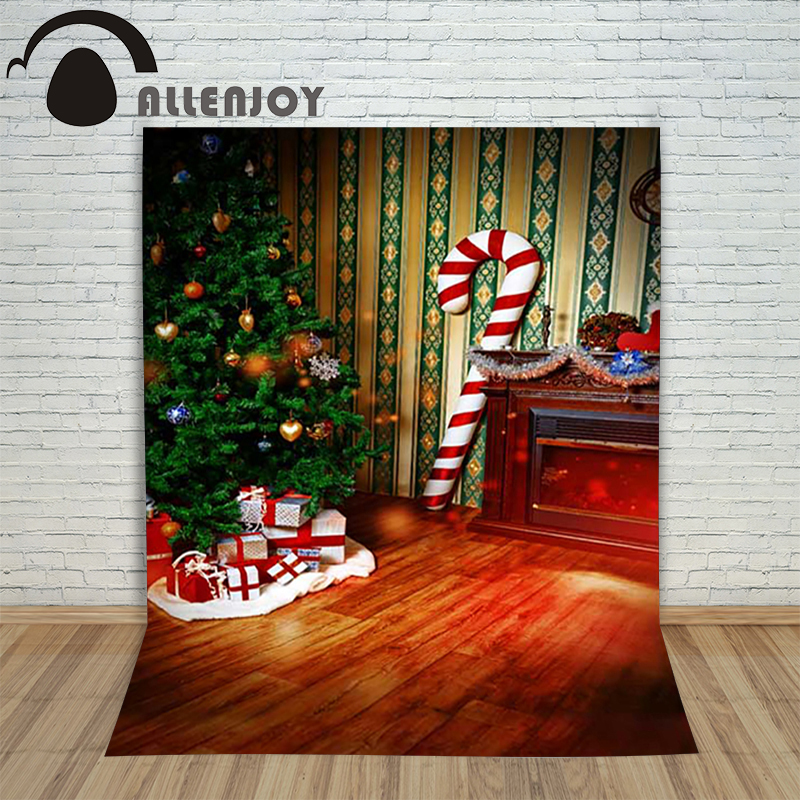 Background photography studio Christmas Wood xmas tree candy cane gift background for photo shoots vinyl new year holiday lovely candy cane patterned drawstring gift bag storage backpack