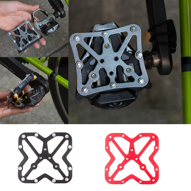 Bike accessories Quick release cycling shoes cleats locking plate / spline for self-locking pedals
