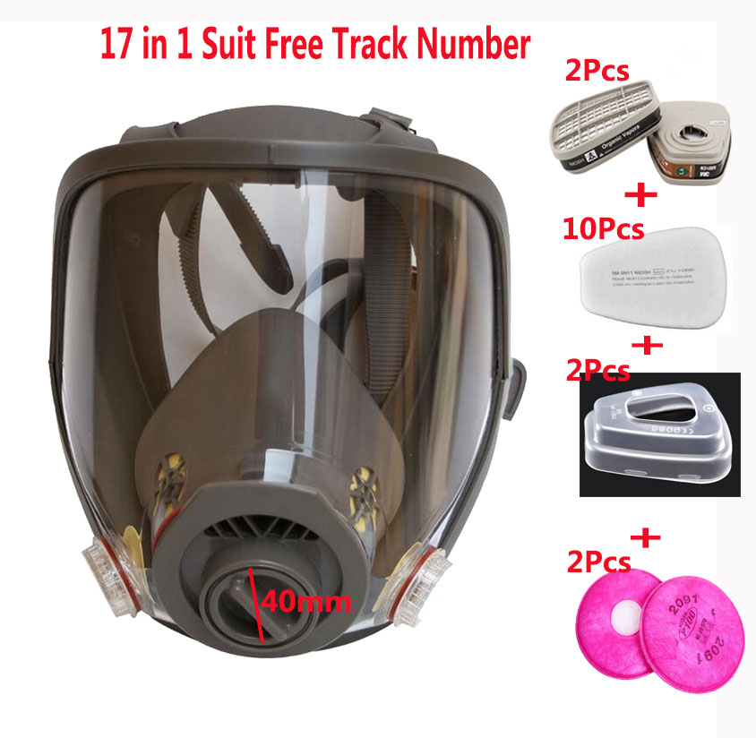Double Use 17 In 1 Spraying Silicone Work Mask Same For 3M 6800 Gas Mask Full Face Facepiece Respirator For Double Use 17 In 1 Spraying Silicone Work Mask Same For 3M 6800 Gas Mask Full Face Facepiece Respirator For