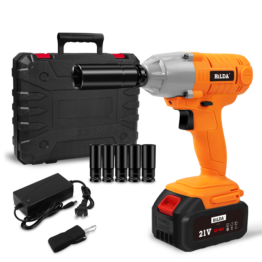 21V Cordless Impact Electric Socket Wrench Hand Drill