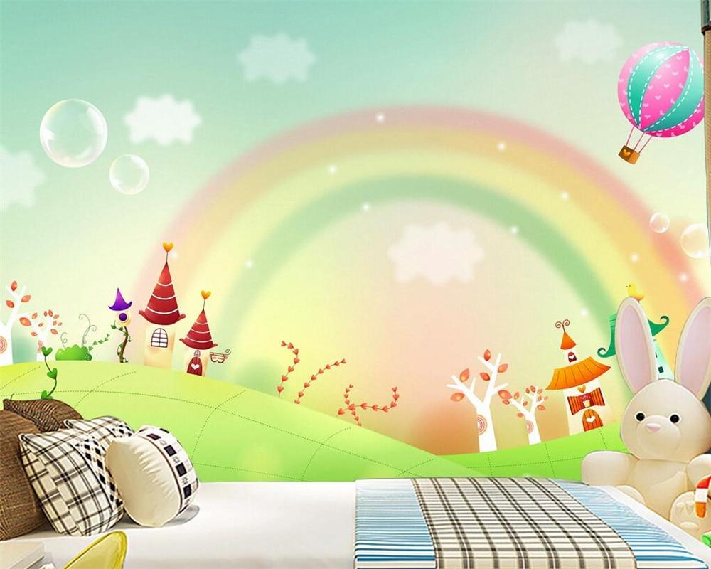 Rainbow Mural Kids Room