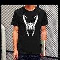 Novo Thor Loki T Shirt Tees de Verão Camisas Moda Masculina plus Size de Algodão de Manga Curta Loki Capacete Impresso T-shirt Maravilha Tee