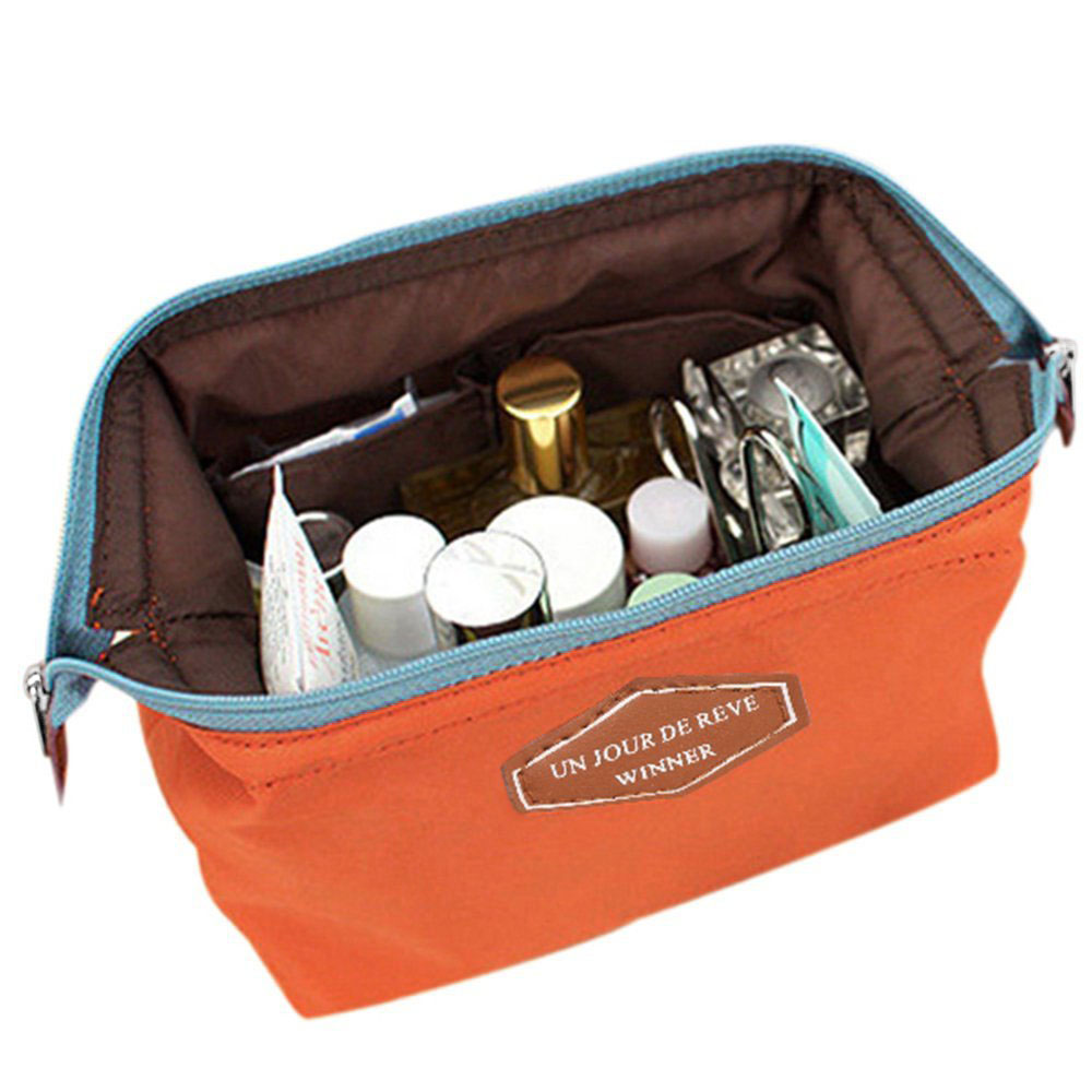 FGGS-Beauty Travel Cosmetic Bag Pouch Toiletry (Orange)