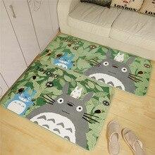 2016 venta caliente carpet tonari no totoro coral baño alfombra antideslizante dormitorio sala de estar felpudo otomanos mascotas cojín