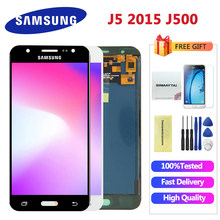J500 LCD For Samsung Galaxy J5 j500 2015 J500F Adjustable Backlight J500H J500FN J500M J500Y Touch Screen + LCD Display Assembly(China)