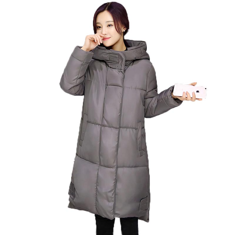New Women Winter Long Warm Zipper Cotton-Padded Jacket Coat Female Clothing Outerwear Thicken Cotton Parka Have Big Yards 3 colors l 2xl 2015 new women winter down cotton padded coat female long hooded wide waisted jacket zipper outerwear zs247
