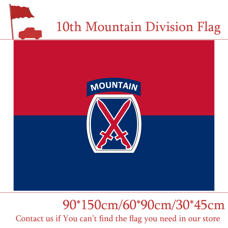3x5ft The10th Mountain Division Flag The United States American U.S. 90*150cm 60*90cm 30*45cm Car For Decoration