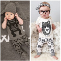 2016 New Fashion Baby Clothing T-shirt+Pants 2pcs Baby Girl Clothes Cotton Spring Summer Baby Boy Clothes for Newborns