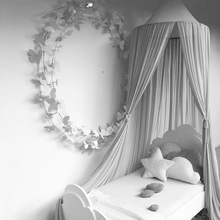 240cm Baby Kids Room Bed Hanging Chiffon Canopy Mosquito Net Dome Dream Curtain Tent Baby Crib Canopy Tent Children Room Decor цены