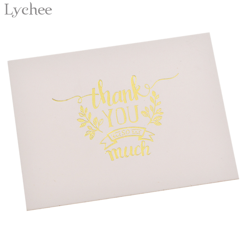 Lychee 48pcs mini gold embossed thank you card valentine christmas lychee 48pcs mini gold embossed thank you card valentine christmas party invitation letter greeting cards in cards invitations from home garden on stopboris Choice Image