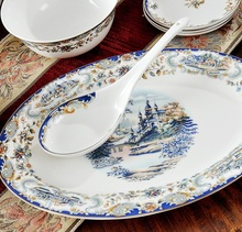 Guci Tableware glaze Jingdezhen 56 PIECES  bone china tableware sets Edinburgh wedding gifts housewarming glaze