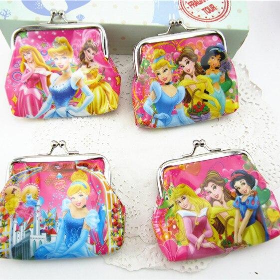 12PCS Happy Birthday Party Decoration Kids Return Gift Souvenir Princess Coin Bag Baby Shower Favor