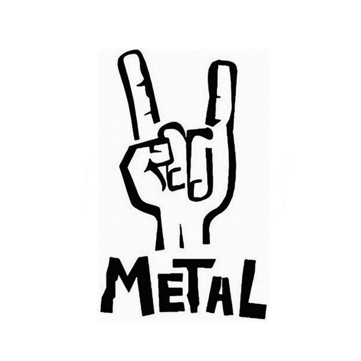 Heavy Metal Sticker Vinyl Decal Electric Bass Guitar Rock Personality Sticker Wall Home Glass Window Door