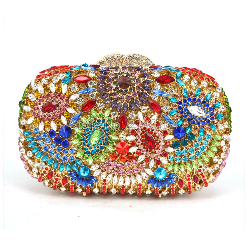 luxury evening clutch bags Handcraft crystal clutch purse golden diamante women party evening bags handbags 523luxury evening clutch bags Handcraft crystal clutch purse golden diamante women party evening bags handbags 523
