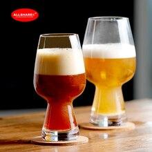 Новая мода ручной работы выдувное стекло бессвинцовое Хрустальное стекло пивной стакан для напитков сок набор из 2 шт 330 мл 500 мл 600004