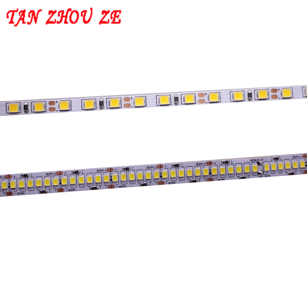 CRI>80 High Quality 0.2W 2835 LED Strip 4mm 10mm PCB 120LEDs 240LEDs/M DC12V 24V Flexible LED Light Warm Whit /White NW 5m/lot