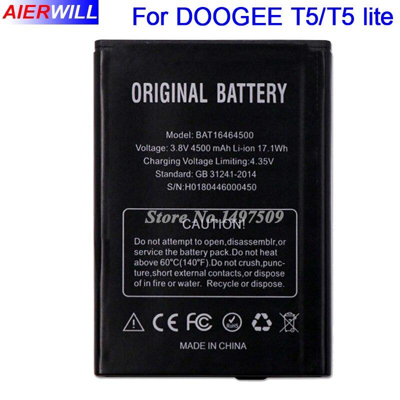 BAT16464500 Batterie Für DOOGEE T5 T5 lite Batterie Bateria Batterie-akkumulator 4500 mAh Hohe Qualität