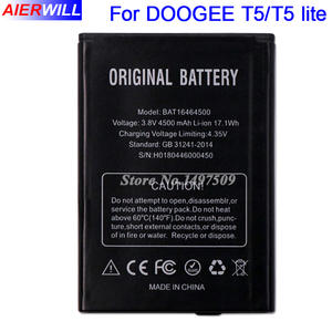 BAT16464500 4500 mAh Battery For DOOGEE T5 lite Bateria Batterie Batterij Accumulator