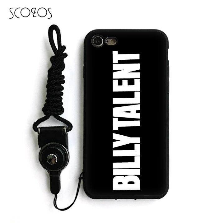 Scozos Билли талант рок-группа логотип телефон силиконовый чехол для iPhone X 5 5S SE 6  ...