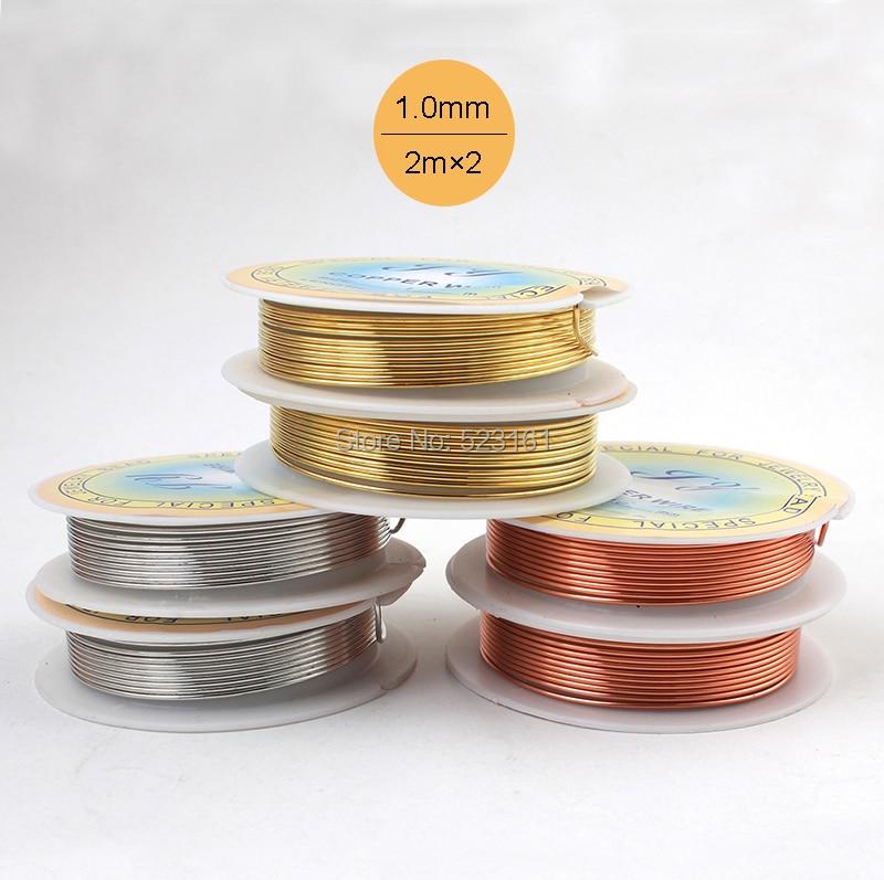 2 teile/los) 18 ga Schmuck Kupferdraht Solid Gold Silber Beschichtet ...